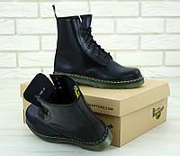 Женские ботинки Dr. Martens (в стиле Martens) черные, кожа, демисезон