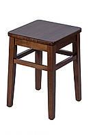Табурет деревянный кухонный с твердым или мягким сиденьем. Бук. Бейц. 310х310х430. МГ-130б
