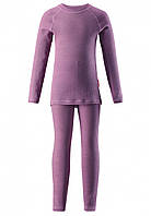 Комплект шерстяного термобелья для девочки Reima Kinsei 536184-5180. Размеры 110-160.