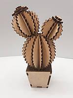 Композиция для творчества Кактус. Игрушка кактус из фанеры