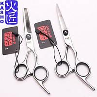 Профессиональные парикмахерские ножницы для стрижки волос комплект KASHO 6.0