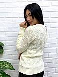 """Жіночий ажурний светр """"Плетінка"""", 42-48, фото 4"""