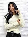 """Жіночий ажурний светр """"Плетінка"""", 42-48, фото 2"""