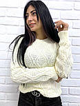 """Жіночий ажурний светр """"Плетінка"""", 42-48, фото 3"""