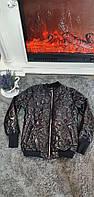 """Куртка-бомбер жіноча стьобаний демісезонна на блискавці, р. S """"SALE"""" недорого від прямого постачальника"""