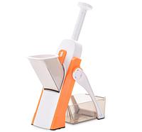 Мультислайсер тёрка для овощей Brava Spring Slicer 9462, слайсер ручной, кухонные приборы, прибор для нарезки