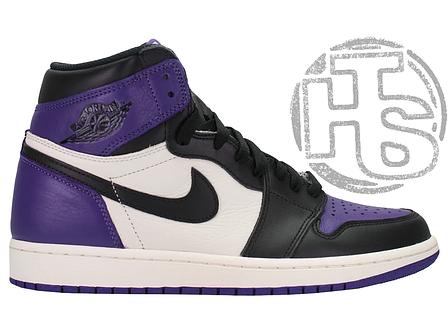 Женские кроссовки Air Jordan 1 Retro High Court Purple 555088-501, фото 2