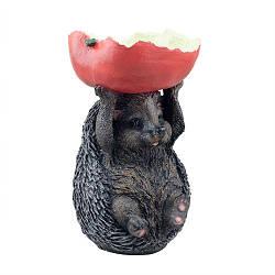 Кормушка для птиц Decoline Ежик с яблоком (полистоун) KP0401(P)
