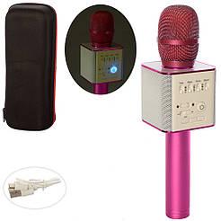 Безпровідний мікрофон караоке Q9 рожевий