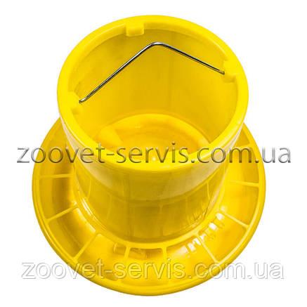 Бункерная кормушка 11,3 л / 7,6 кг с ручкой для перепелов, бройлеров, кур несушек, индюков, уток и гусей, фото 2