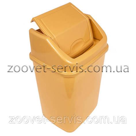 Ведро для мусора с поворотной крышкой на 4,2 л, фото 2