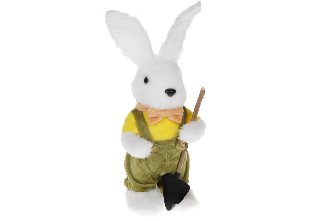 Декоративная пасхальная фигура Зайчиха с корзинкой, 29см(NY27-921)