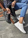 Жіночі кросівки шкіряні весна/осінь білі-сірі Yuves 778, фото 2