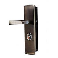 Ручка на бронированные двери с подсветкой (стальная, левая)