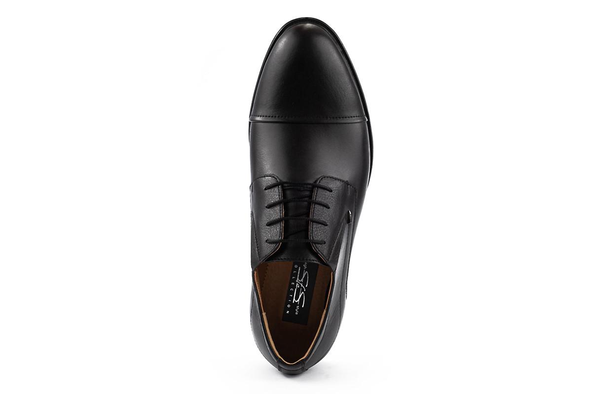Чоловічі туфлі шкіряні весна/осінь чорні Stas 437-09-10