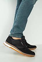 Мужские кроссовки кожаные весна/осень черные Multi-shoes RBK