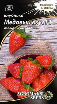 """Насіння полуниці """"Медовий смак F1 (0,01 г) від Agromaksi seeds"""