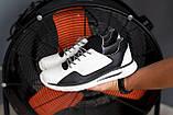 Мужские кроссовки кожаные весна/осень белые-черные CrosSAV 316 Sport, фото 2