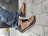 Чоловічі кросівки шкіряні зимові чорні-коричневі Anser 100, фото 3