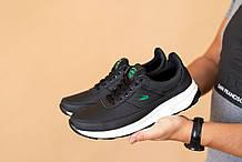 Мужские кроссовки кожаные весна/осень черные Multi-shoes L-Kosta