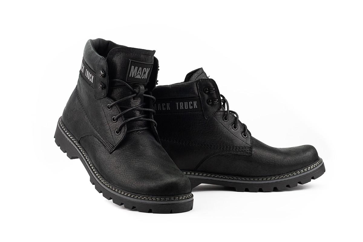 Чоловічі черевики шкіряні зимові чорні Botus 21 Mack Truck
