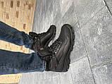Мужские кроссовки кожаные зимние черные Shark B 223, фото 3
