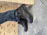 Мужские кроссовки кожаные зимние черные Shark B 223, фото 4