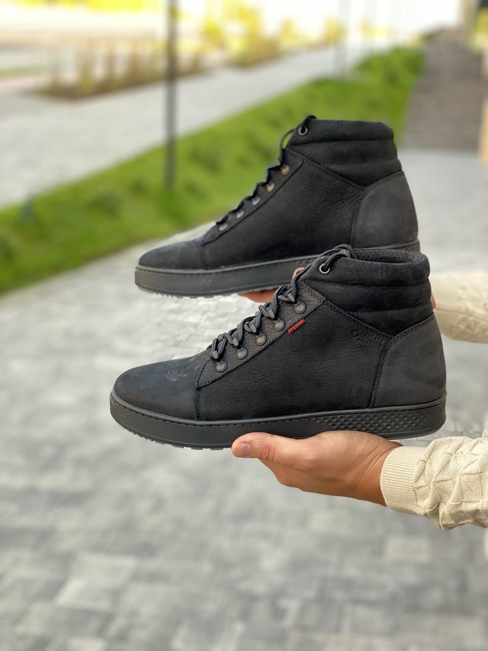 Чоловічі черевики шкіряні зимові чорні матові StepWey 7260