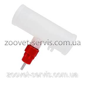 Ниппельная поилка со штуцером для круглой трубы, фото 2