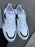 Женские кроссовки кожаные весна/осень белые Obr 21118 White Edition, фото 3