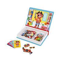 Развивающая игрушка Janod Магнитная книга Наряды для мальчика (J02719)