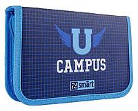Пенал твердый Smart Campus, синий