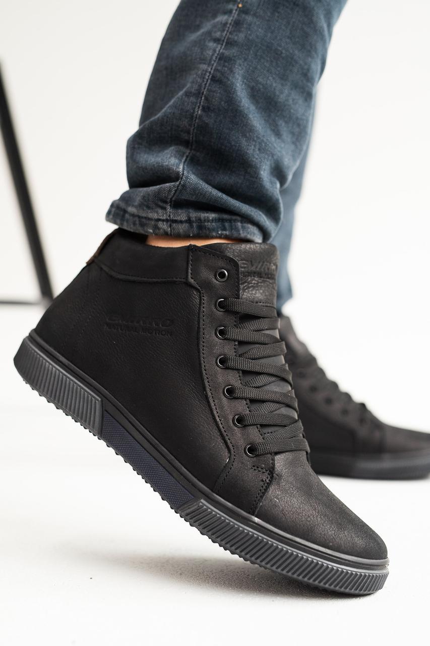 Чоловічі черевики шкіряні зимові чорні Anser x500 Emirro