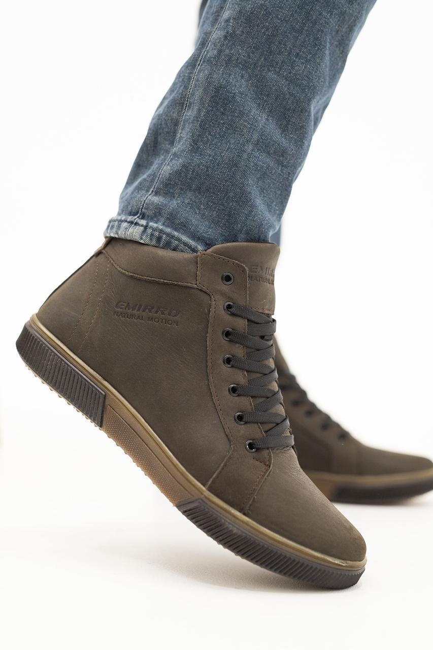 Мужские ботинки кожаные зимние коричневые Anser x500 Emirro