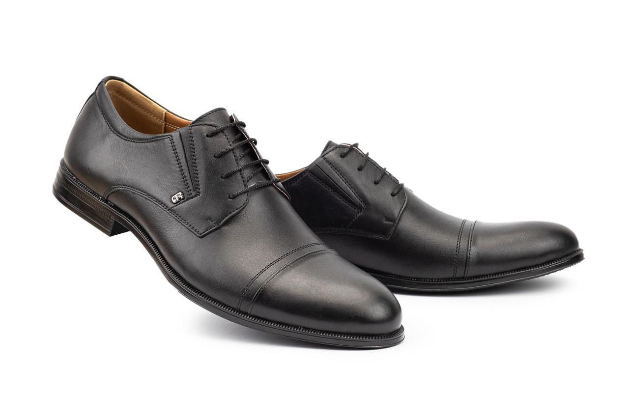 Мужские туфли кожаные весна/осень черные Stas 334-20-92