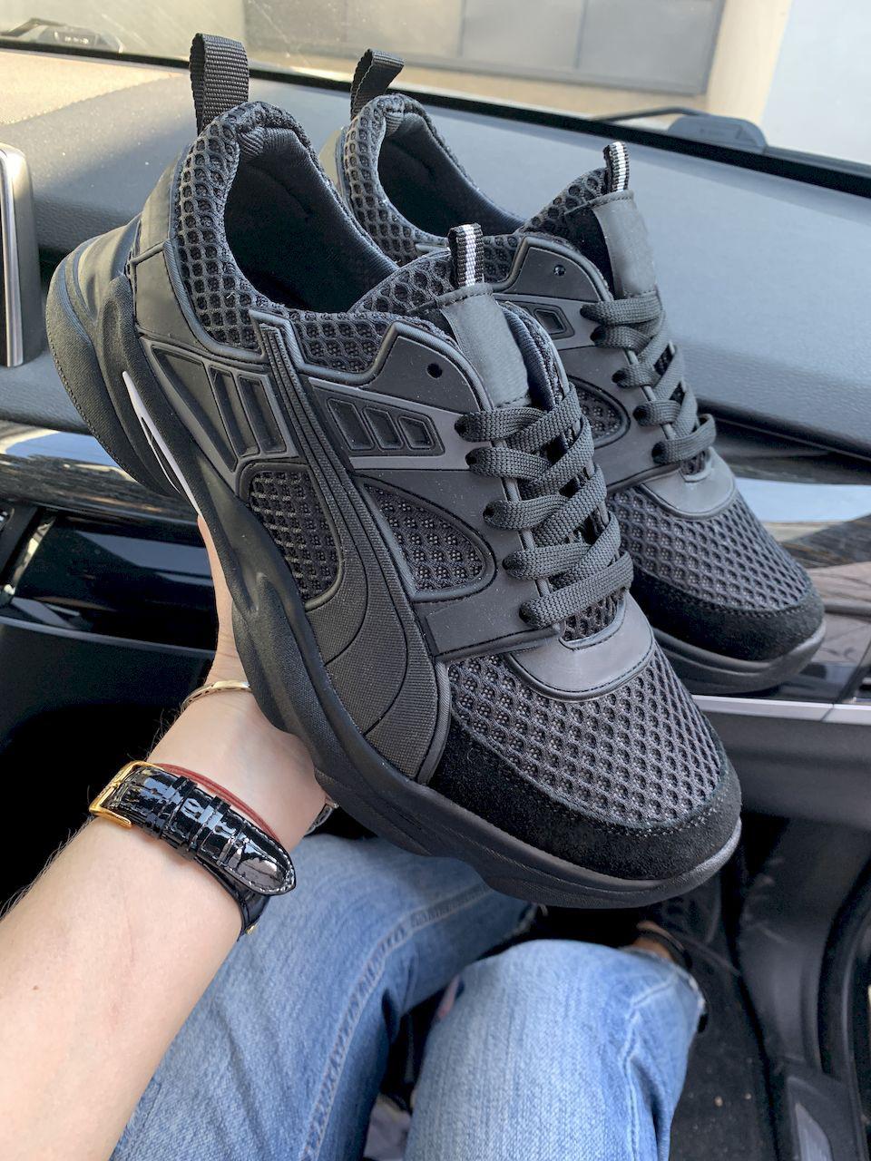 Чоловічі кросівки текстильні літні чорні Anser P5 год