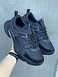 Чоловічі кросівки текстильні літні чорні Anser P5 год, фото 3