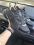 Чоловічі кросівки текстильні літні чорні Anser P5 год, фото 4