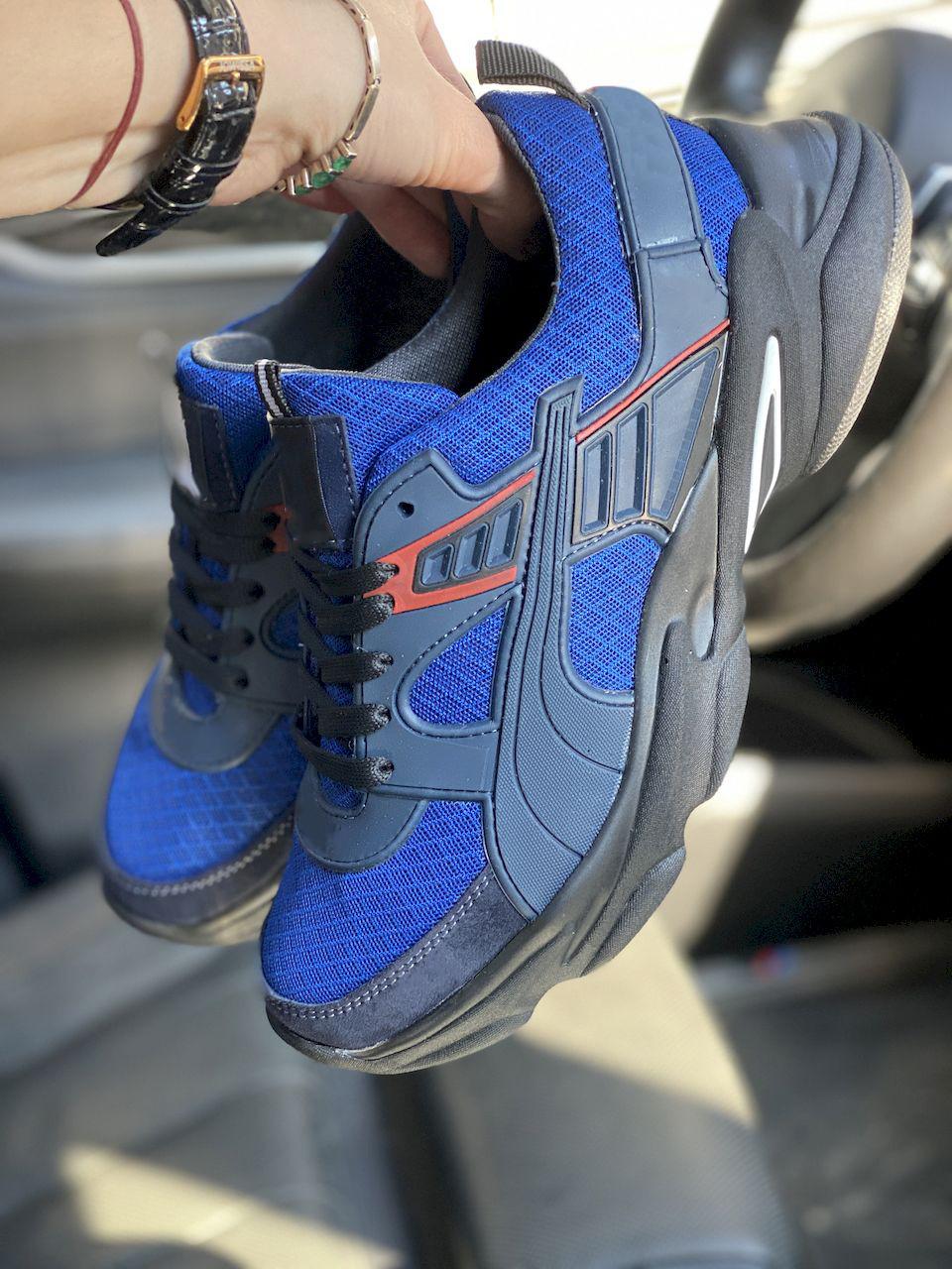 Чоловічі кросівки текстильні літні сині Anser P5 з