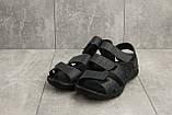 Чоловічі сандалі шкіряні літні сині Yuves C21, фото 2
