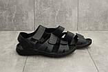 Чоловічі сандалі шкіряні літні сині Yuves C21, фото 3