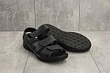 Чоловічі сандалі шкіряні літні сині Yuves C21, фото 4