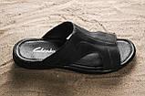 Чоловічі капці шкіряні літні чорні Yuves Z5, фото 7
