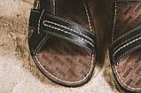 Мужские сандали кожаные летние черные Bonis Original 25, фото 2