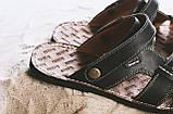 Мужские сандали кожаные летние черные Bonis Original 25, фото 3