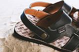 Мужские сандали кожаные летние черные Bonis Original 25, фото 4