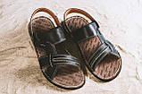 Мужские сандали кожаные летние черные Bonis Original 25, фото 5