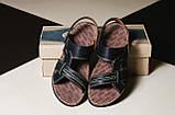 Мужские сандали кожаные летние черные Bonis Original 25, фото 6