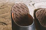 Чоловічі капці шкіряні літні чорні Bonis Original 27, фото 3