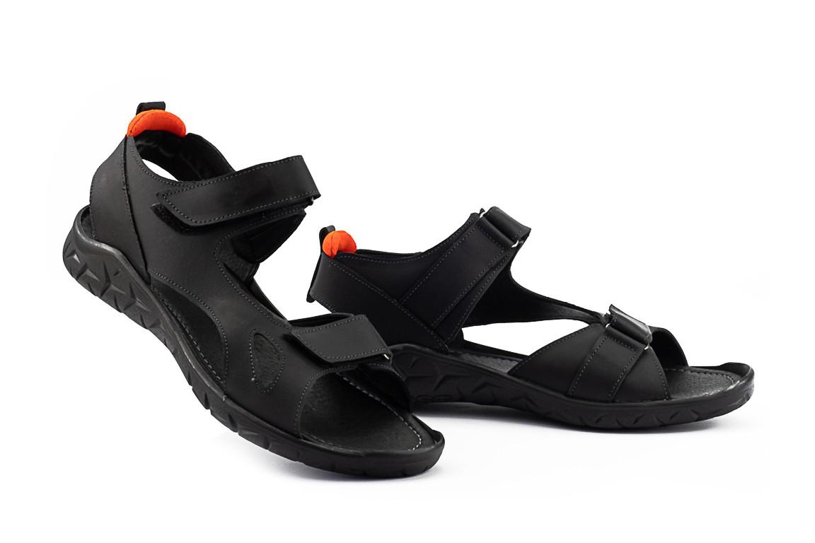 Чоловічі сандалі шкіряні літні чорні Yuves 311